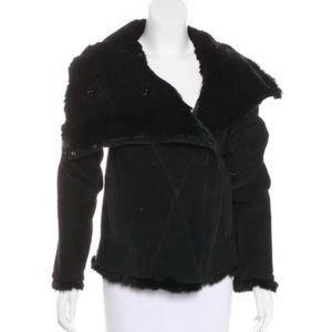 Helmut Lang Shearling lined Leather jacket